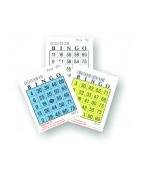 Bingobrickor, Bingoblad och Bingospel