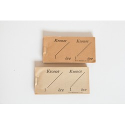 Biljettblock med Kronor / Öre