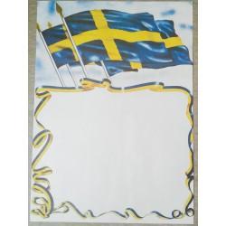 Affisch - Svenska flaggor
