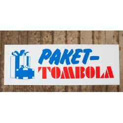 Skylt - PAKET-TOMBOLA