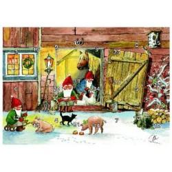 Julkalender - luckkalender Julkväll i ladugården